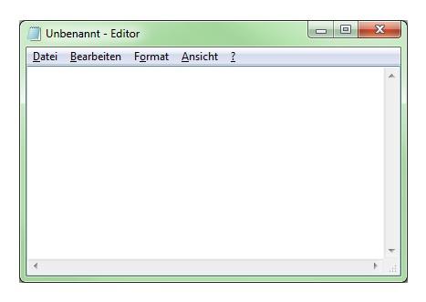 Screenshot MS Editor