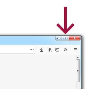 Browser-Fenster minimieren