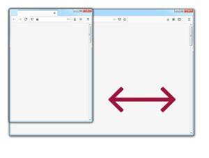 Browser-Fenster ziehen
