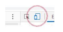 device toolbar toggle goggle chrome